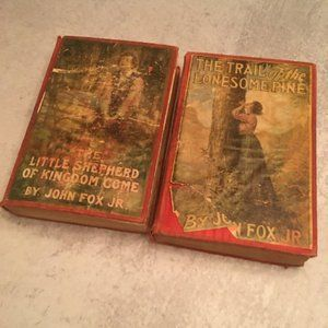 Two Antique John Fox Jr Books hardcover